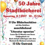 Plakat 50 Jahre Stadtbücherei